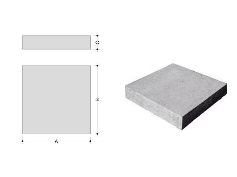Concrete element for perimeter enclosure Curb by F.LLI ABAGNALE