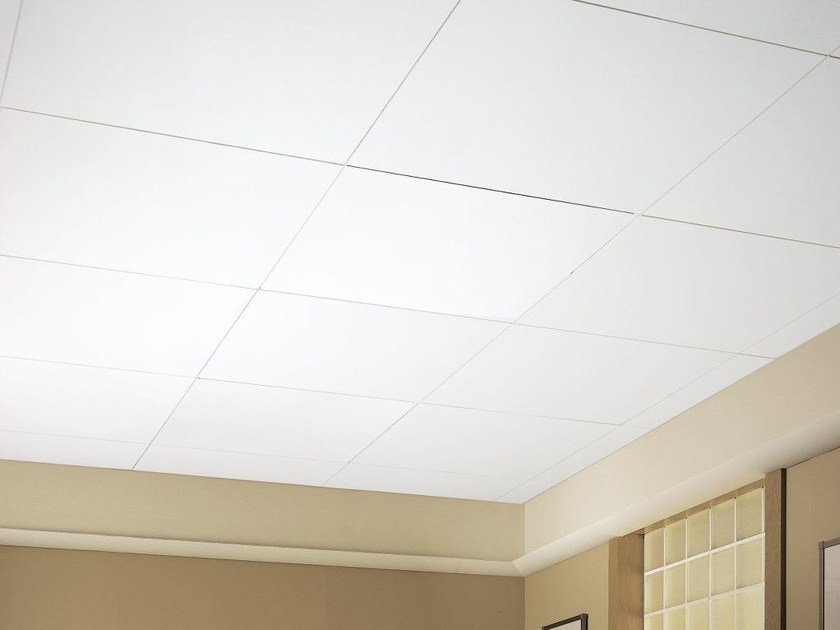 Acoustic glass-fibre ceiling tiles OPTIMA VECTOR by Armstrong