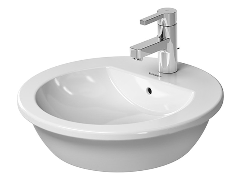Countertop round ceramic washbasin DARLING NEW   Countertop washbasin by Duravit