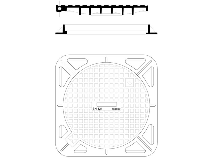 Manhole cover and grille for plumbing and drainage system Manhole cover and grille by F.LLI ABAGNALE