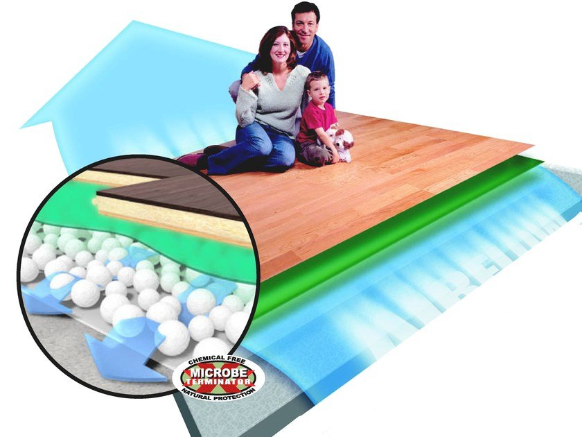 Mat underfloor insulation and vapor barrier TUPLEX by NANNI GIANCARLO & C.