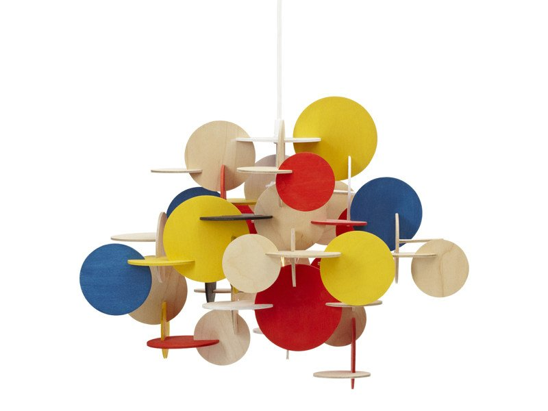 Wooden pendant lamp BAU by Normann Copenhagen
