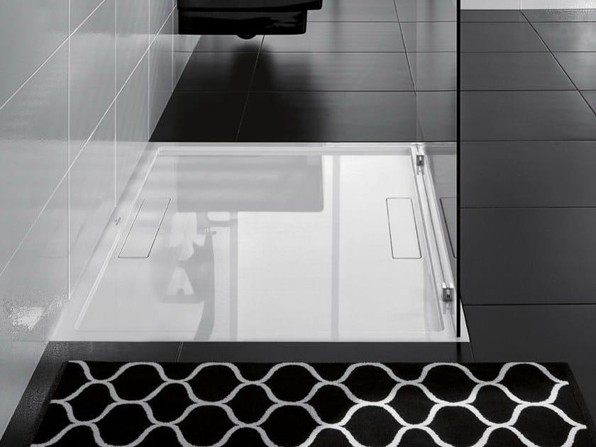 Flush fitting Quaryl® shower tray SQUARO SUPER FLAT by Villeroy & Boch