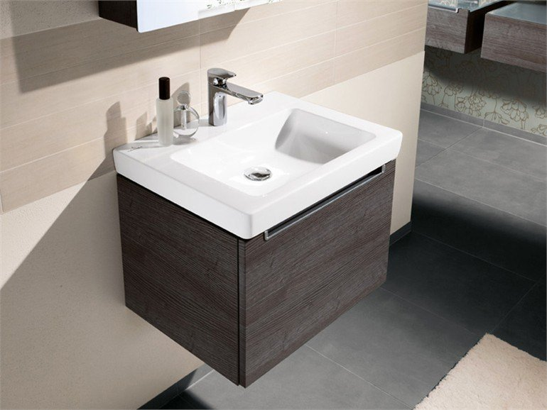 Rectangular ceramic washbasin SUBWAY 2.0 | Rectangular washbasin by Villeroy & Boch