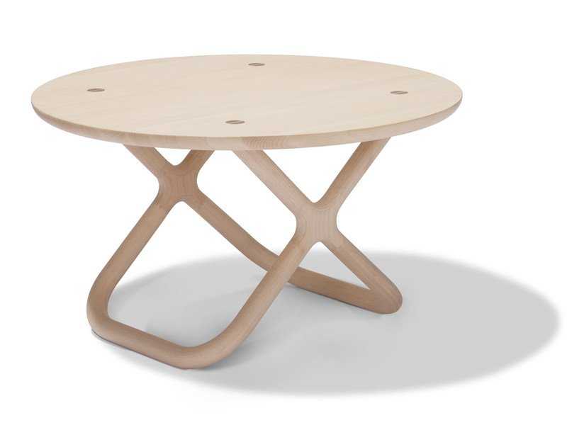 Round wooden table CAMPING | Table by Normann Copenhagen