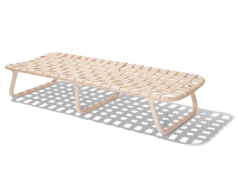 Tanned leather wooden day bed CAMPING | Day bed by Normann Copenhagen
