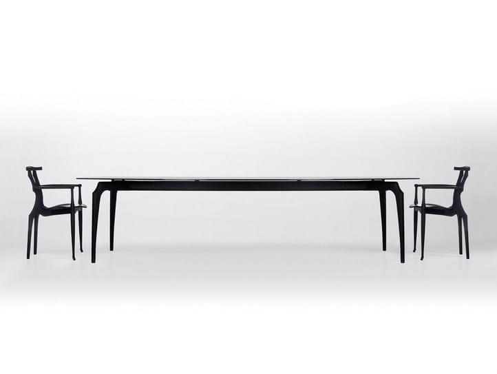 Pranzo Barcelona Design Bd Legno Vetro E Da GaulinoTavolo In UzpjGqMLSV