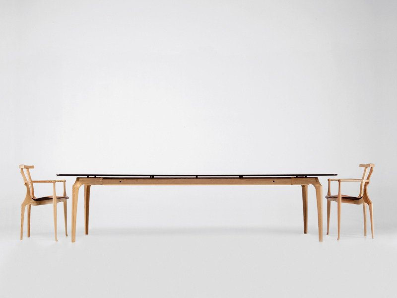 Rectangular solid wood dining table GAULINO | Solid wood table by BD Barcelona Design
