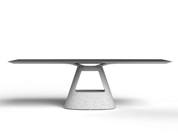 Rectangular cement dining table TABLE B | Cement table by BD Barcelona Design