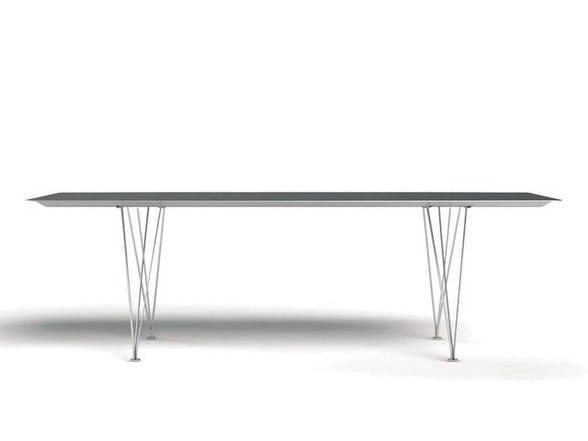 Rectangular aluminium dining table TABLE B | Aluminium table by BD Barcelona Design