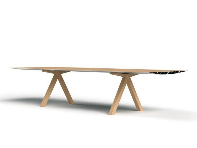 Rectangular wooden dining table TABLE B | Wooden table by BD Barcelona Design