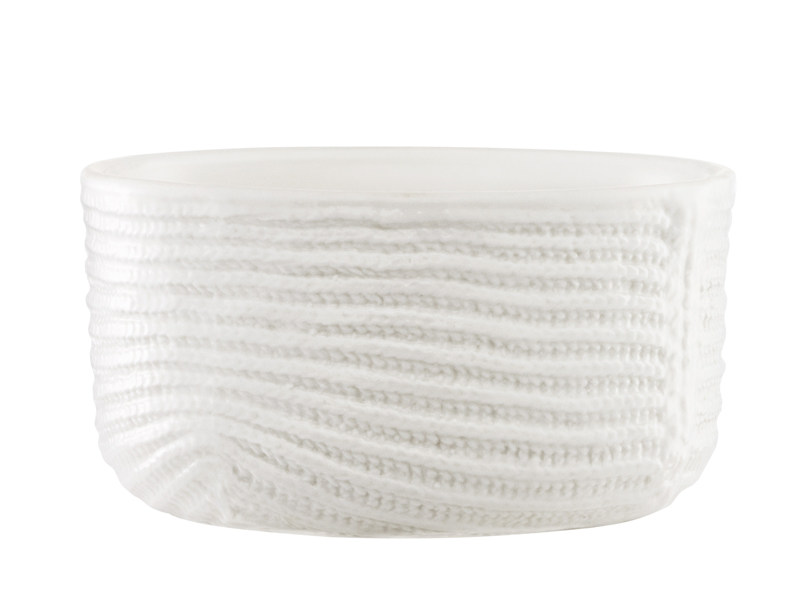 Ceramic serving bowl MORMOR RIBBED BOWL by Normann Copenhagen