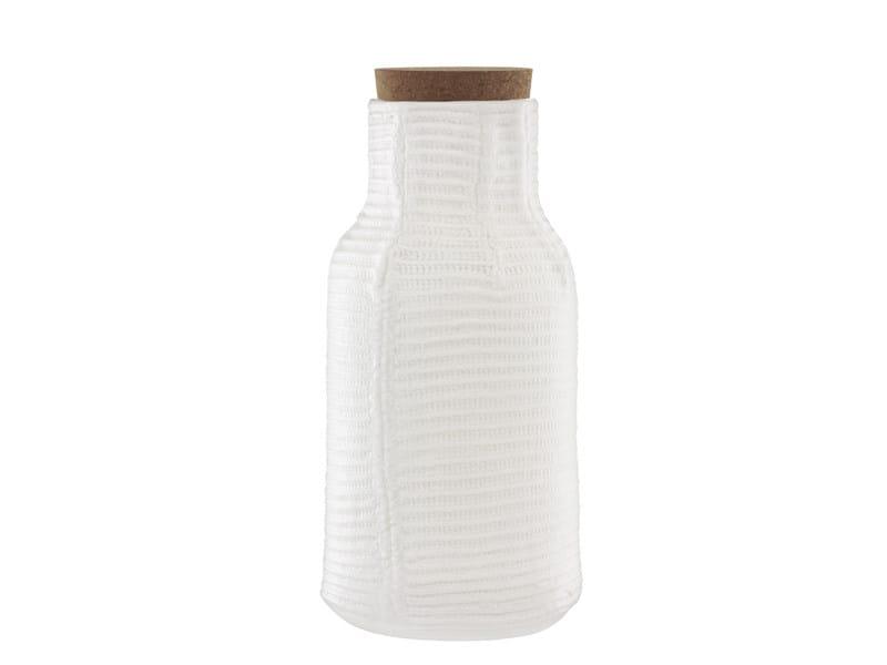 Ceramic jug MORMOR RIBBED CARAFE by Normann Copenhagen