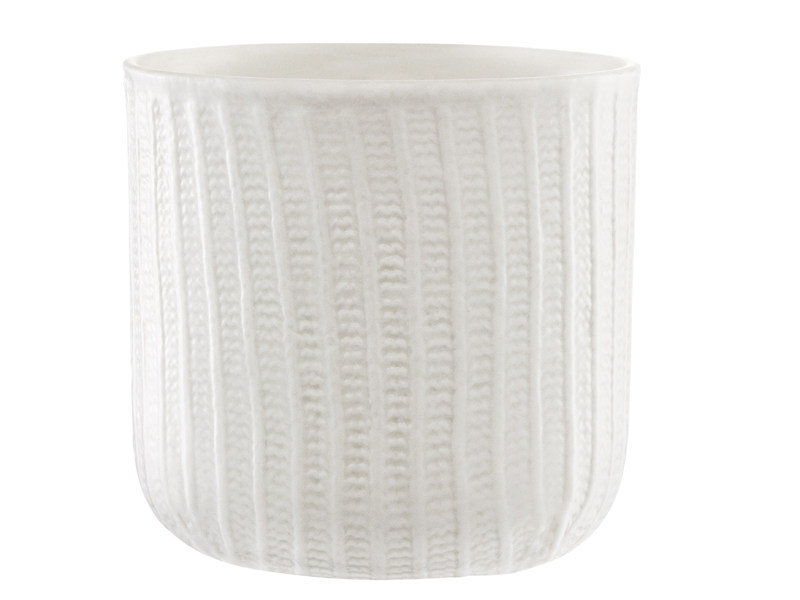 Ceramic cup MORMOR RIBBED CUP by Normann Copenhagen