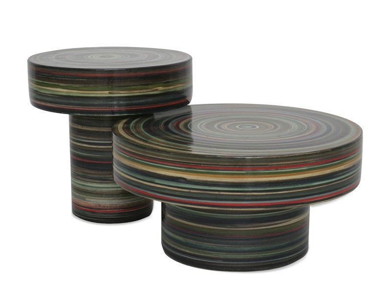 Round porcelain stoneware coffee table NW1 by Normann Copenhagen