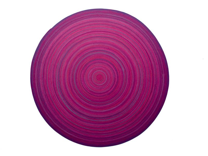 Patterned wool rug ZOE | Round rug by paola lenti