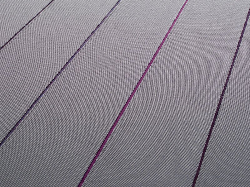 Striped solid-color wool rug TUNE by paola lenti