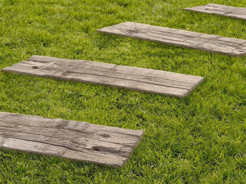 Concrete garden paths Log Sleepers by SAS Italia