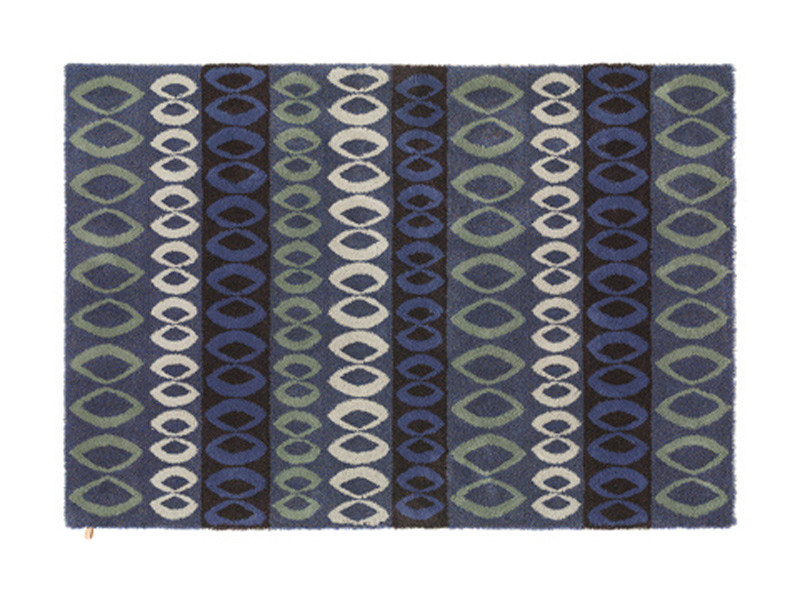 Design patterned wool linen rug FOLKE by Kasthall