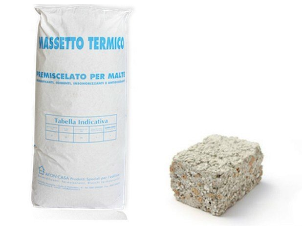 Pre-mixed screed MASSETTO TERMICO by AFON CASA