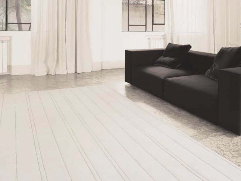 Striped wool rug LINES by paola lenti