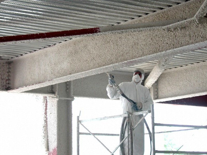Fireproof plaster for fire protection MANDOLITE CP2 by Perlite Italiana