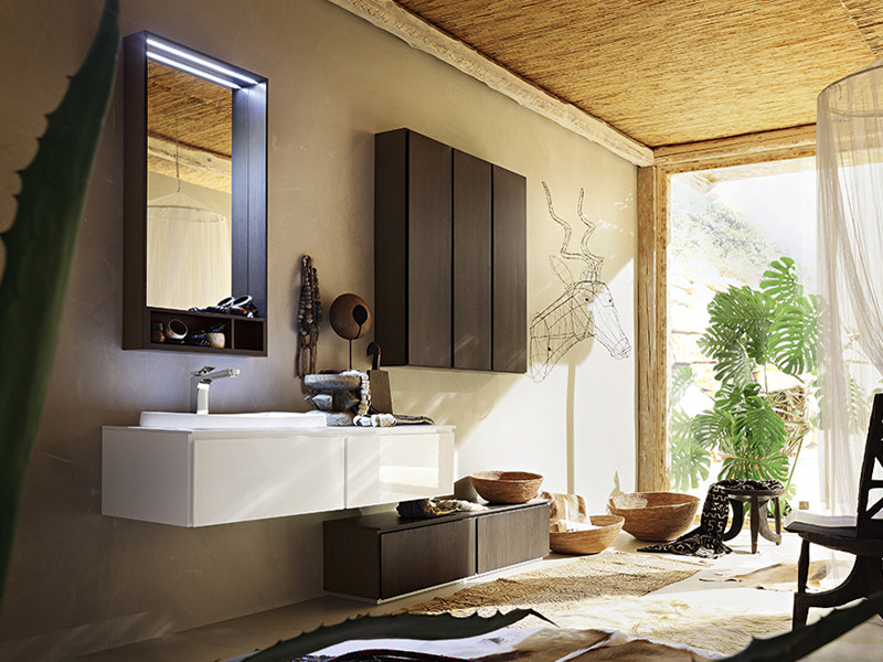 Single wall-mounted vanity unit SUEDE 66/67 by Cerasa