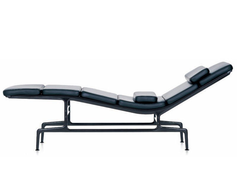Chaise longue estofada de pele SOFT PAD CHAISE ES 106 by Vitra