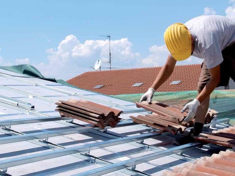 Polystyrene panel for ventilated roofs TEGOLBLOK E 50 by PREBIT