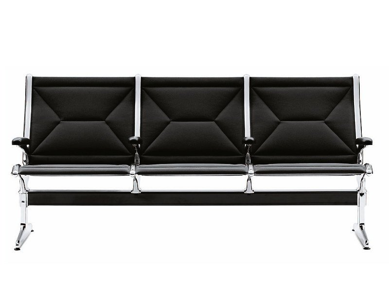 Beam seating with armrests TANDEM SEATING by Vitra