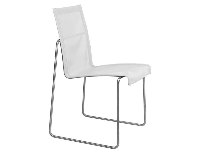 Sled base Batyline® garden chair ARC | Garden chair by TRIBÙ