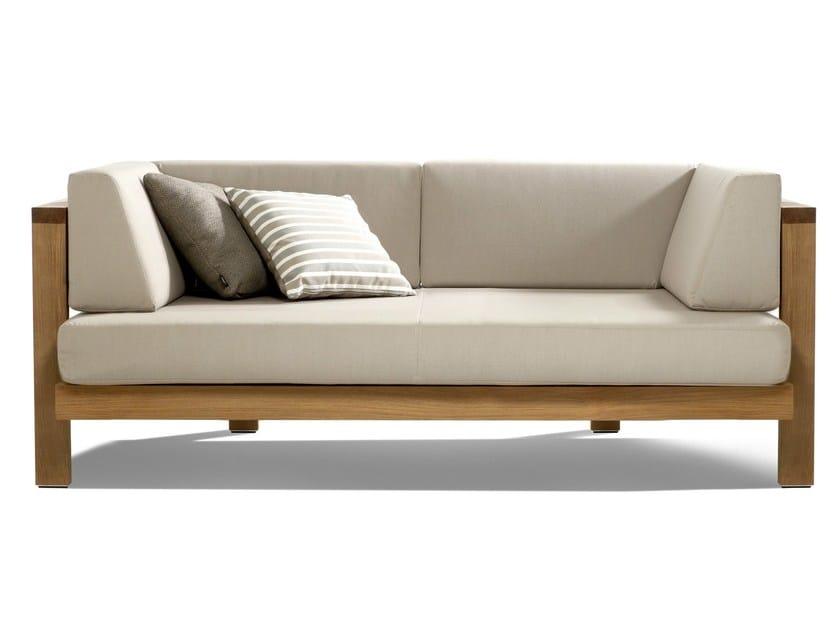 3 seater fabric garden sofa PURE SOFA | Garden sofa by TRIBÙ