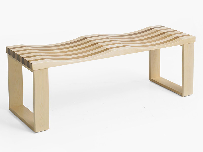 Wooden bench SIDEbySIDE by Karl Andersson