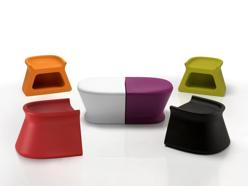 Polyethylene garden side table / garden stool PAL | Garden side table by VONDOM