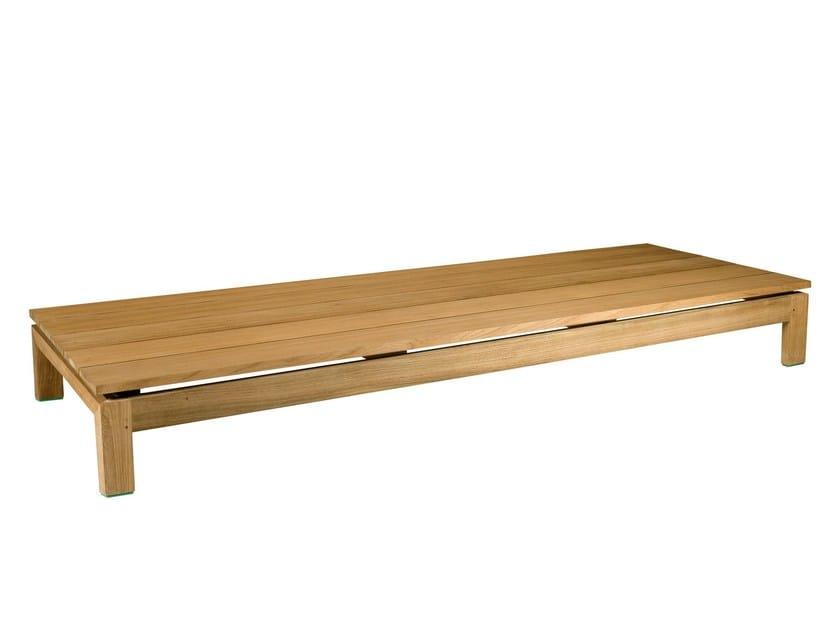Rectangular teak garden footstool KOS TEAK | Garden footstool by TRIBÙ