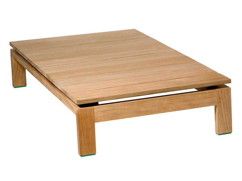 Low teak garden side table KOS TEAK | Garden side table by TRIBÙ