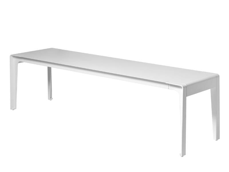 Aluminium garden bench MIRTHE   Garden bench by TRIBÙ