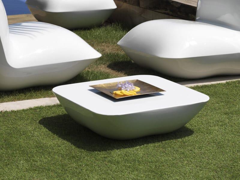 Polyethylene garden side table PILLOW | Garden side table by VONDOM