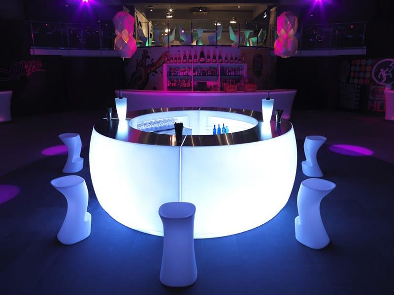 Illuminated bar counter FIESTA by VONDOM