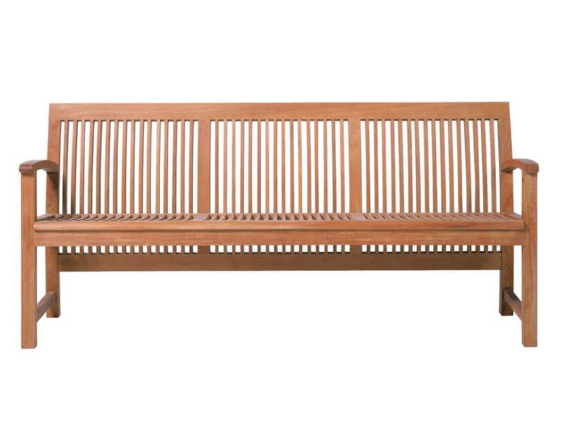 Wooden garden bench PRASLIN | Garden bench by TRIBÙ