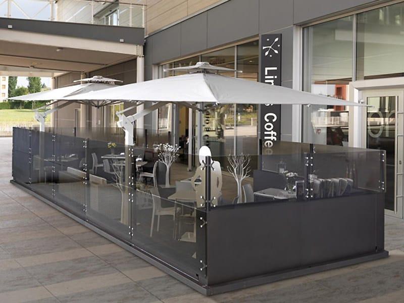 Paravento per dehors in alluminio e vetro DEHORS By CAGIS