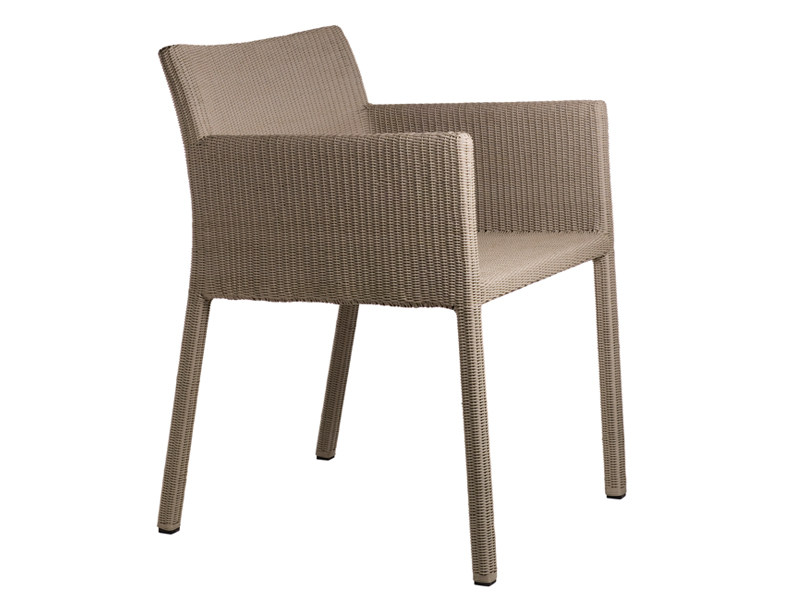Design plastic garden chair with armrests TERRA | Garden chair with armrests by TRIBÙ