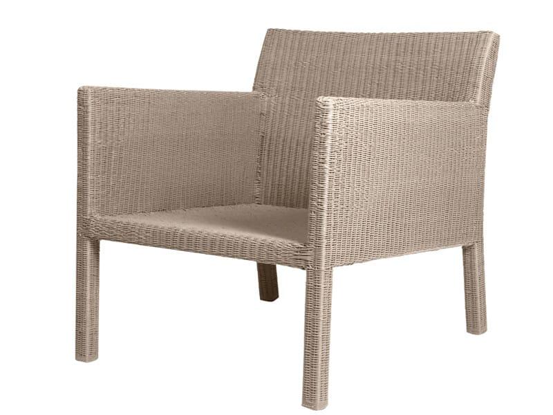 Canax® garden armchair with armrests TERRA | Garden armchair by TRIBÙ