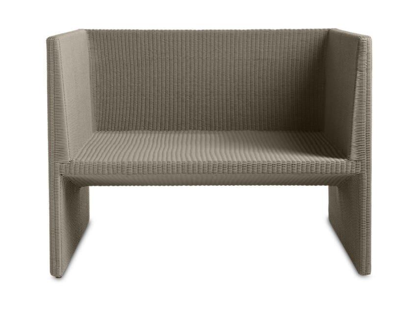 Canax® garden armchair with armrests TERRA SOFA   Garden armchair by TRIBÙ