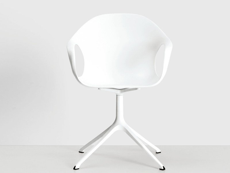 Cadeira de 4 raios de poliuretano com braços ELEPHANT | Cadeira by Kristalia