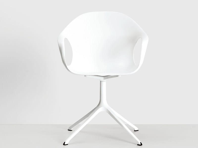 Polyurethane chair with 4-spoke base ELEPHANT | Chair with 4-spoke base by Kristalia