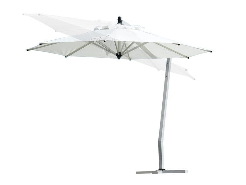 Offset adjustable Garden umbrella VITINO PENDULUM by TRIBÙ
