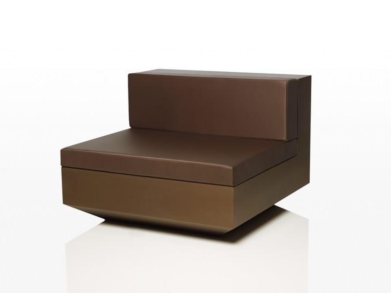 Design modular polyethylene garden sofa VELA L 100 by VONDOM