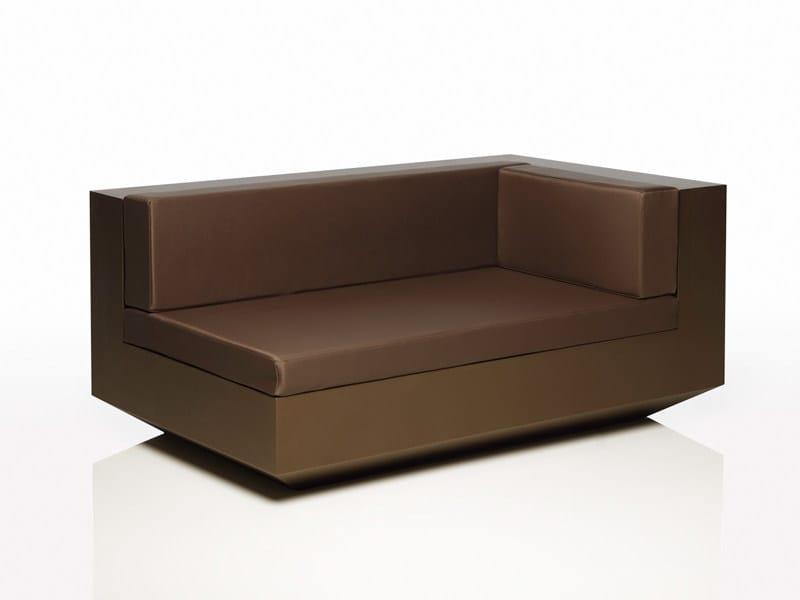 Corner polyethylene garden sofa VELA L | Modular garden sofa by VONDOM