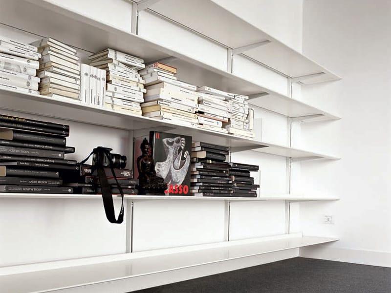 Aluminium bookcase DOT by Kristalia